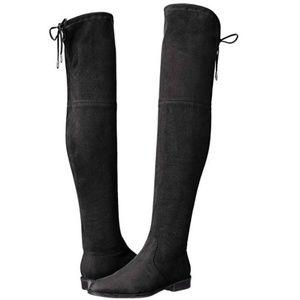 Marc Fisher Mfhumor2 Riding Boot, Black,-NEW